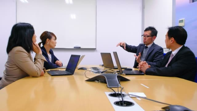 japanese business people in the office - only japanese stock videos & royalty-free footage