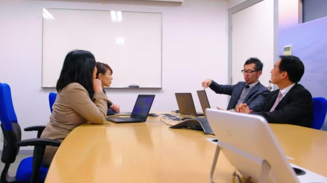 japanese business people in the office - board room stock videos & royalty-free footage