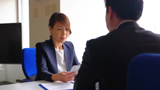 japanese business people in the office - japanese ethnicity stock videos & royalty-free footage