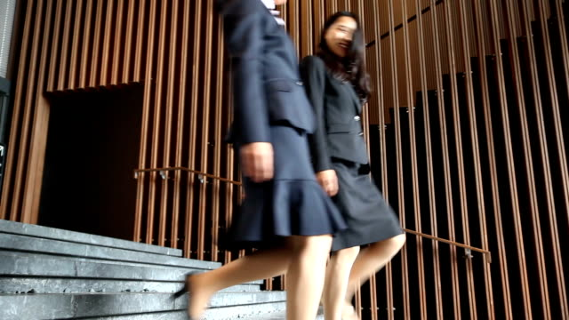 japanese business women on the move - lypsekyo16 stock videos and b-roll footage