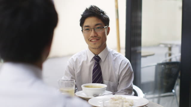ms japanese businessmen at a lunch meeting / tokyo, japan - interview stock videos & royalty-free footage