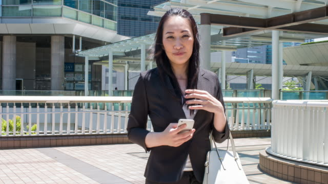 Japanese businesswoman commuting at Tokyo