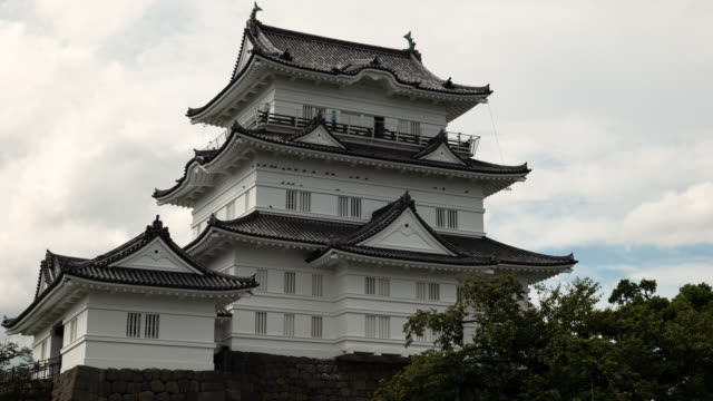 japanese castle (time lapse) - samurai stock videos & royalty-free footage