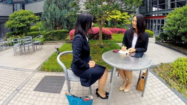 japanese corporate professional business women meeting outdoors - only japanese stock videos and b-roll footage