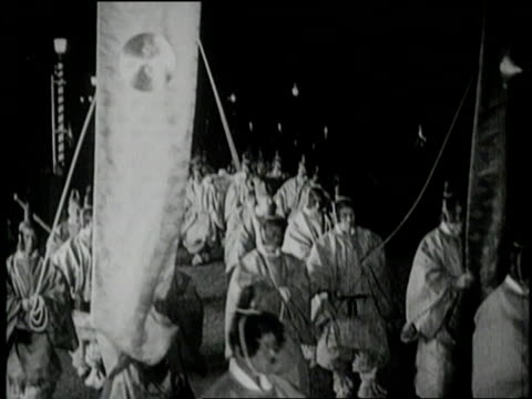 japanese crown prince hirohito marches in the funeral procession for japanese emperor taisho - 1926 stock videos & royalty-free footage