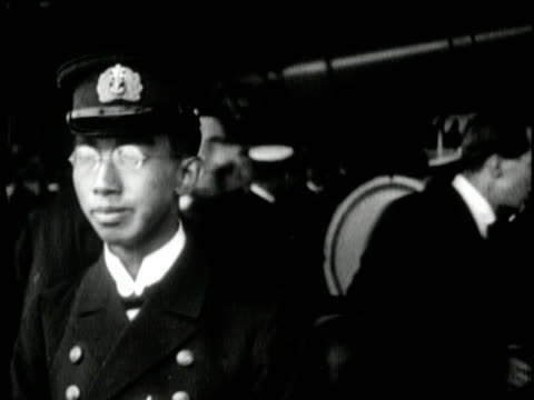 japanese crown prince hirohito smiles and talks to interviewers - japanese royalty stock videos and b-roll footage