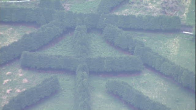 japanese cypress trees form the shape of a kanji character near the mt. fuji shizuoka airport in makinohara, japan. - 日本語の文字点の映像素材/bロール