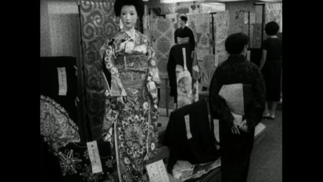 japanese department store mannequin wearing kimono; 1959 - 1950 1959 stock videos & royalty-free footage