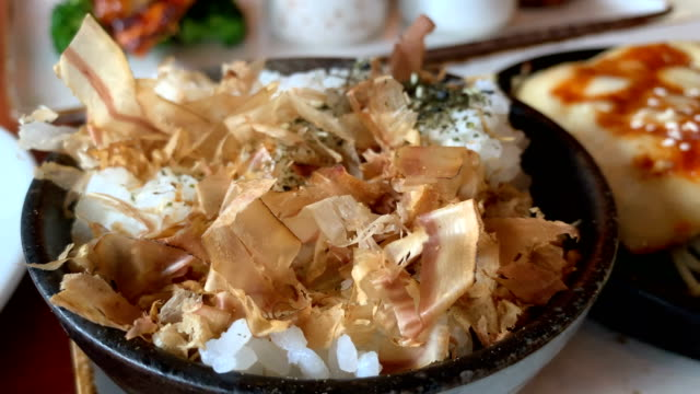 japanese dried bonito flakes - dried food stock videos & royalty-free footage