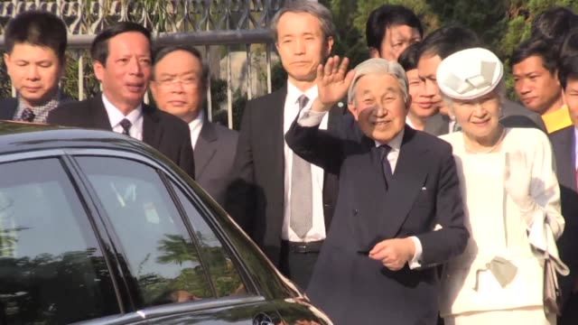 japanese emperor and empress akihito and michiko visit the memorial home of vietnamese nationalist phan boi chau who campaigned for his country's... - emperor akihito stock videos and b-roll footage