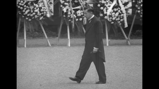 japanese emperor hirohito attends funeral of his mother empress dowager teimei in tokyo - japanese royalty stock videos and b-roll footage