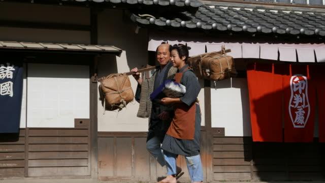 江戸時代の日本の農家 - 過去点の映像素材/bロール
