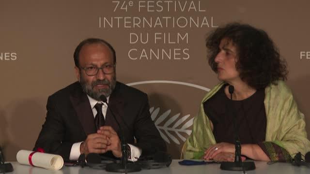 FRA: Japan's Ryusuke and Iran's Farhadi give presser on Cannes prizes