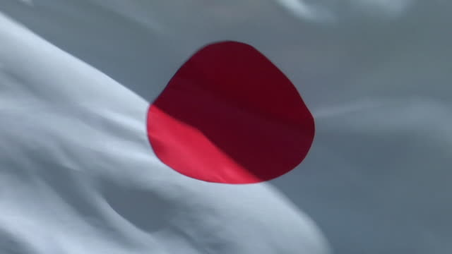 ecu, japanese flag flapping against sky - japan flag stock videos & royalty-free footage