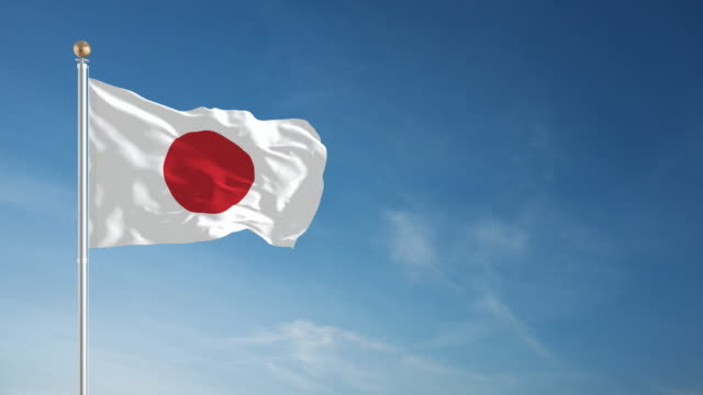 4k japanese flag - loopable - national flag stock videos & royalty-free footage