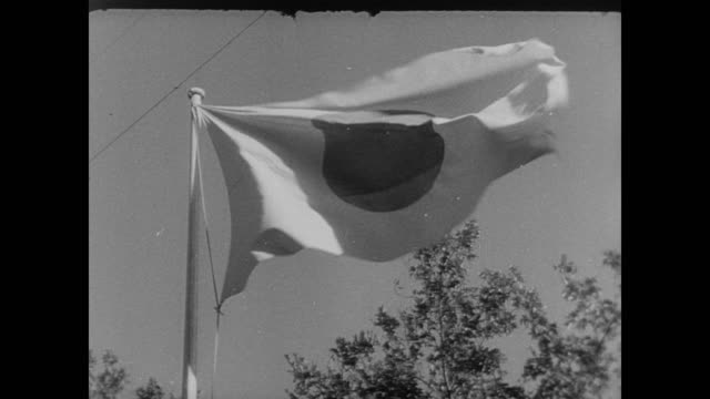 japanese flag moving in the wind in the us during wwii - 1942 stock videos & royalty-free footage