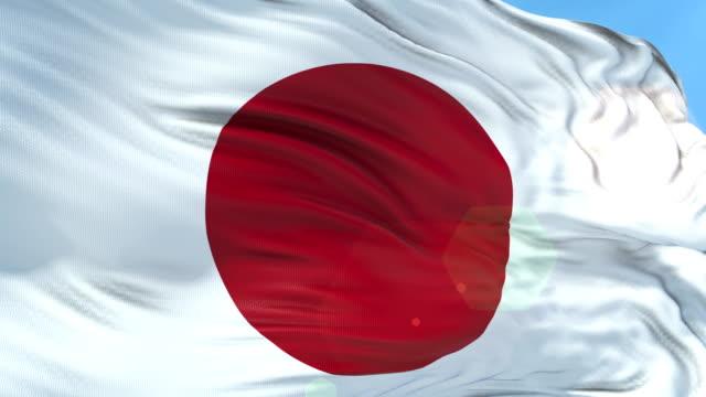 japanese flag - slow motion - 4k resolution - japan flag stock videos & royalty-free footage