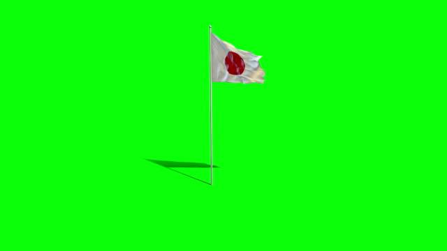 japanese  flag - japan flag stock videos & royalty-free footage