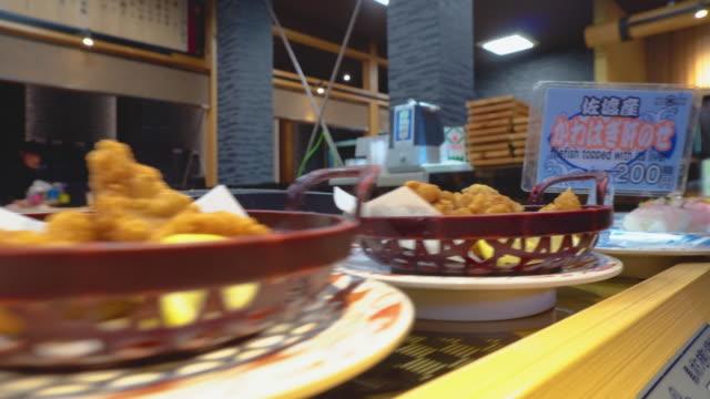 japanese food 4k - shrimp seafood stock videos & royalty-free footage
