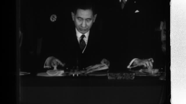 Japanese Foreign Minister Yosuke Matsuoka Ambassador Jun Matsumiya French Ambassador to Japan Charles Henry and Prince Wan Waithayakon of Thailand...