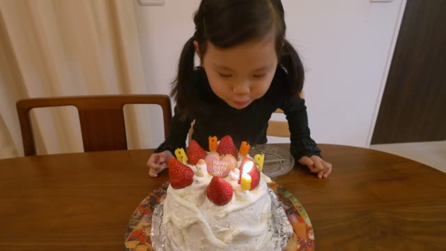 japanese girl 5 years old birthday - candid stock videos & royalty-free footage