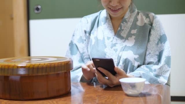 japanese girl at ryokan - ryokan stock videos and b-roll footage