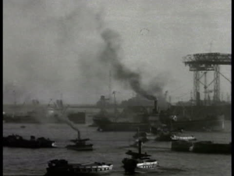 japanese harbor w/ many commercial vessels ships. japanese family in home wearing traditional clothing child drinking from bowl baby in bed mother &... - 1934 stock videos & royalty-free footage