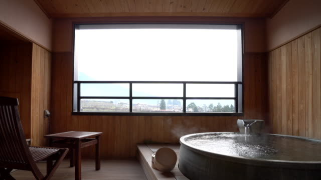 japanese hot spring - hot spring stock videos & royalty-free footage