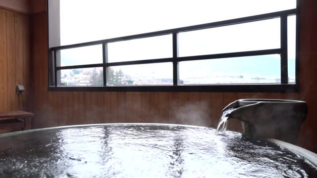 日本の温泉 - 温泉点の映像素材/bロール