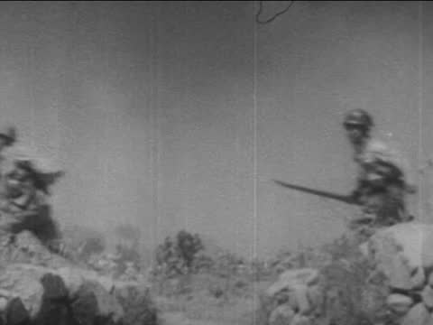japanese infantry going on attack - infantry stock videos & royalty-free footage