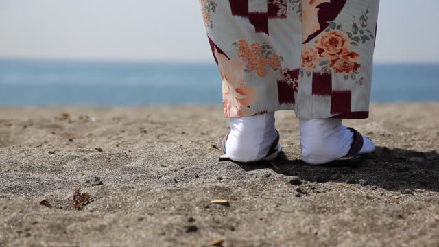 japanese kimono lady's feet - sandal stock videos and b-roll footage