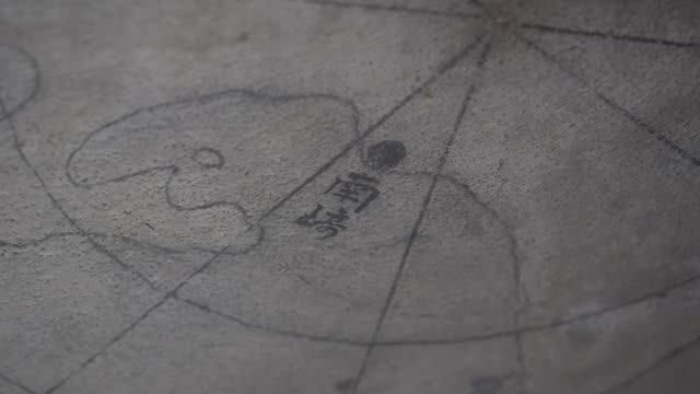 japanese letterings on wall - paper scroll stock videos and b-roll footage