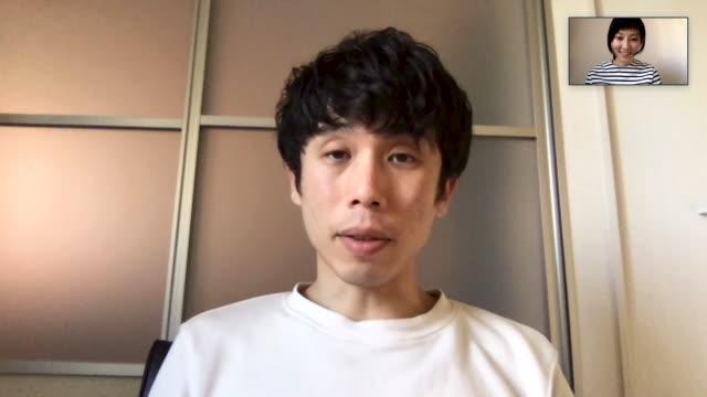 パソコンでのオンラインビデオ会議で一緒に会議をしている日本の男女 - テレビ会議点の映像素材/bロール