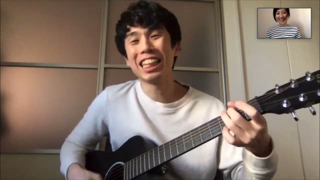 japanese men and women singing together in a pc online video conference - interactivity stock videos & royalty-free footage