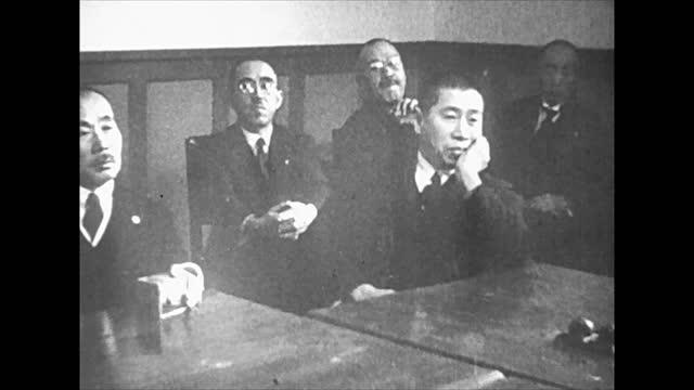 japanese military headquarters meeting - 将校点の映像素材/bロール