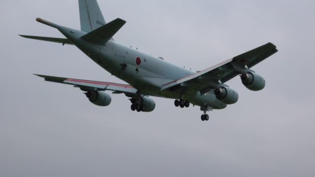 japanese military patrol aircraft - japan self defense forces stock videos and b-roll footage
