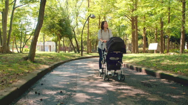 japanese mother and child - pushchair stock videos and b-roll footage