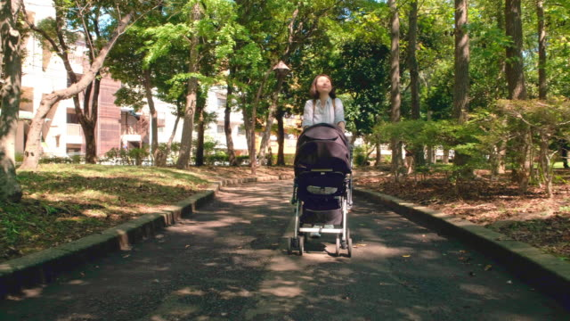 japanese mother and child - pushchair stock videos & royalty-free footage