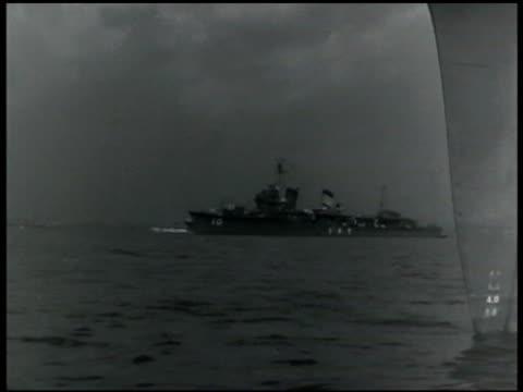 Japanese Navy battleships on sea