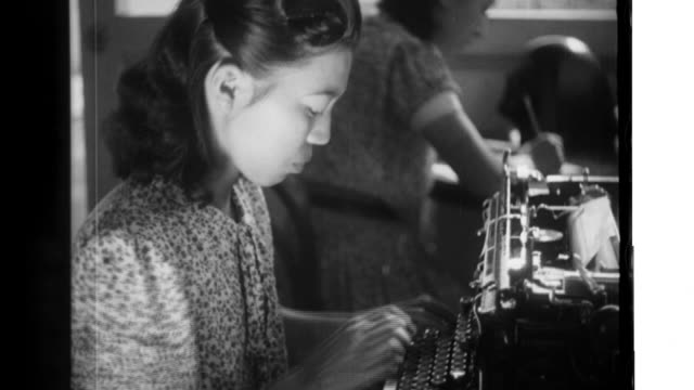 japanese nurses operate japanese character typewriters assist physicians as they treat native patients and then relax exercise and pick local fruit... - wounded stock videos & royalty-free footage