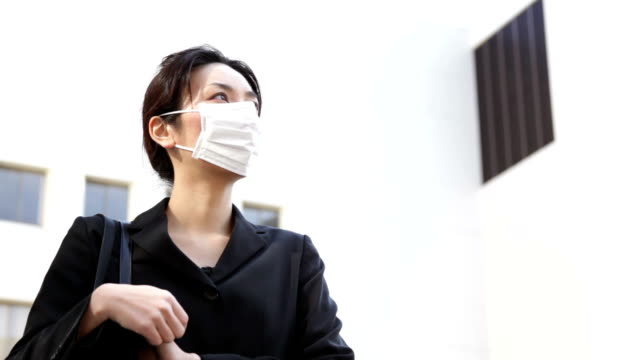 japanese office lady talking outside - hay fever stock videos and b-roll footage