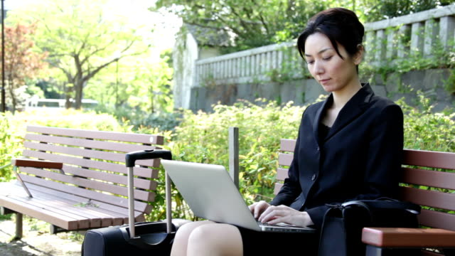 japanese office lady working with laptop - only japanese stock videos & royalty-free footage
