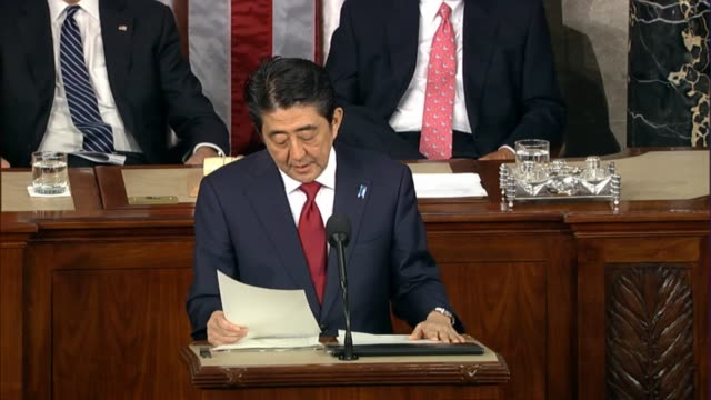 Japanese Prime Minister Shinzo Abe addresses concerns about a massive Pacific trade pact with the US