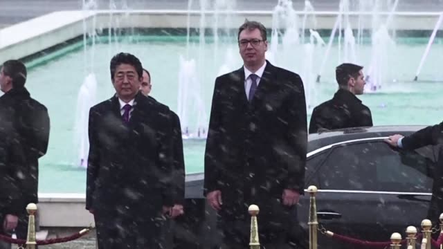 Japanese Prime Minister Shinzo Abe arrives in Serbia the penultimate stage of his European tour as he strives to increase support for his firm policy...