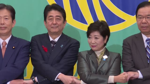 Japanese Prime Minister Shinzo Abe clashes with popular Tokyo governor Yuriko Koike over nuclear energy and a tax hike in a nationally televised...