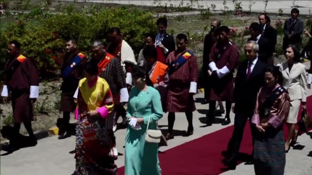 japanese princess mako the oldest of emperor akihito's grandchildren started thursday her nine day long official visit in bhutan's capital thimpu... - emperor akihito stock videos and b-roll footage
