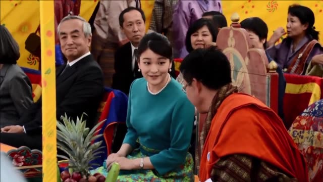 japanese princess mako the oldest of emperor akihito's grandchildren continued friday her nine day long official visit in bhutan's capital thimpu... - emperor of japan stock videos and b-roll footage