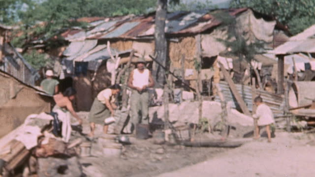 japanese prisoners working in ramshackle camp / saipan mariana islands - saipan stock videos and b-roll footage