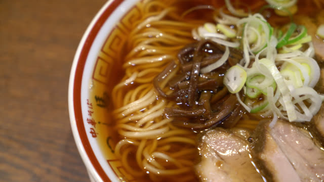japanese ramen noodle on table - glue stock videos and b-roll footage