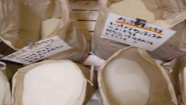 vidéos et rushes de japanese rice, niigata, japan - riz céréale